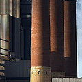 Chimneys Of Coal Power Station. by Jan Brons
