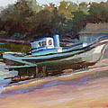 China Camp Boat by Carol Smith Myer