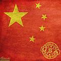 China Flag Made In The Usa by Tony Rubino