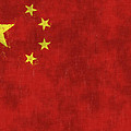 China Flag by World Art Prints And Designs