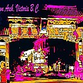 China Town Arch Victoria British Columbia Canada by John Malone