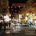 China Town At Night by Linda Woods