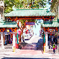 Chinatown Gate On Grant Avenue In San Francisco 7d7193wcstyle by Wingsdomain Art and Photography