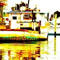 Chincoteague Boat Reflections by Alice Gipson