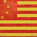 Chinese American Flag by Tony Rubino