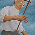 Chinese Citicen Barack Obama Is Playing Erhu A Chinese Two Stringed Musical Instrument by Tu Guohong