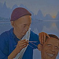 Chinese Citizen Barack Obama On The Ear Scops by Tu Guohong