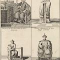 Chinese Clergyman, Chinese Philosopher, Chinese Craftsman by Caspar Luyken And Engelbrecht Boucquet