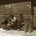 Chinese Cobbler San Francisco California Chinatown Circa 1900 by California Views Archives Mr Pat Hathaway Archives