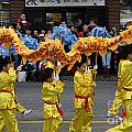 Chinese Dragon Dancers by John  Mitchell