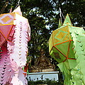 Chinese Lanterns - Wat Phrathat Doi Suthep - Chiang Mai Thailand - 01132 by DC Photographer