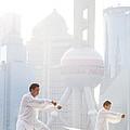 Chinese Men Practicing Tai Chi Shanghai China by Matteo Colombo