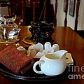 Chinese Tea Pot Cups Towel Tray And Plates by Imran Ahmed