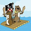 Chipmunk Pirate Dash And Scoot by Christy Beckwith