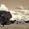 Chitzen Itza Panorama Sepia by Weston Westmoreland
