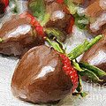 Chocolate Covered Strawberries Painterly 2 by Andee Design