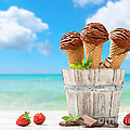 Chocolate Icecreams by Amanda Elwell
