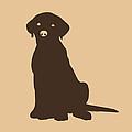 Chocolate Labrador by Elizabeth Harshman