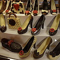 Chocolate Shoes In Milan by Dotti Hannum