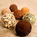 Chocolate Truffles On Gold by Iris Richardson