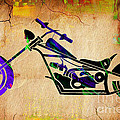 Chopper Motorcycle Painting by Marvin Blaine