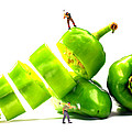Chopping Green Peppers Little People Big Worlds by Paul Ge