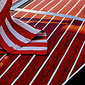 Chris Craft With American Flag by Michelle Calkins