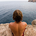 Chris Sharma Relaxing And Meditating by Corey Rich
