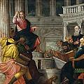 Christ Among The Doctors In The Temple by Paolo Veronese