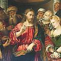 Christ And The Adulteress By Rocco Marconi by Roberto Morgenthaler