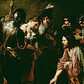 Christ And The Adulteress by Valentin de Boulogne