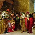 Christ And The Woman Taken In Adultery by Frans II the Younger Francken