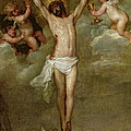 Christ Attended By Angels Holding Chalices by Peter Paul Rubens