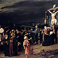 Christ On The Cross by Mihaly Munkacsy