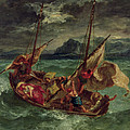 Christ On The Sea Of Galilee by Delacroix