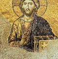 Christ Pantocrator-detail Of Deesis Mosaic Hagia Sophia-judgement Day by Urft Valley Art