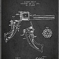 Christ Revolver Patent Drawing From 1866 - Dark by Aged Pixel
