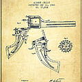 Christ Revolver Patent Drawing From 1866 - Vintage by Aged Pixel
