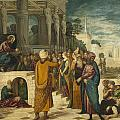 Christ With The Adulterous Woman by Tintoretto