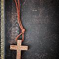 Christian Cross On Bible by Elena Elisseeva