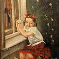 Christine By The Window - 1945 by Art By Tolpo Collection