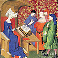 Christine De Pizan Lecturing To Men by Photo Researchers