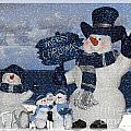 Christmas - Snowmen Collection - Family - Peace - Snow by Barbara Griffin