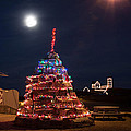 Christmas At Maines Nubble Lighthouse by Jeff Folger