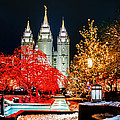 Christmas At Temple Square by La Rae  Roberts