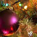 Christmas Ball Ornament Purple 1 by John Brueske