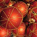 Christmas Balls In Red And Gold by Rosita Larsson
