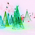 Christmas Blues And Greens by Marian Bell