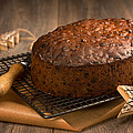Christmas Cake With Knife by Amanda Elwell