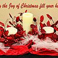 Christmas  Candels by Linda Phelps